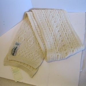 Arancrafts Cream  Merino Wool Scarf - Irish - NWT